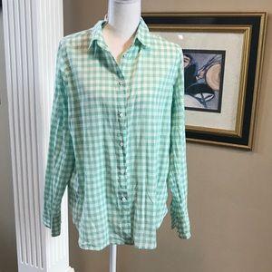 J Crew button down boy style shirt